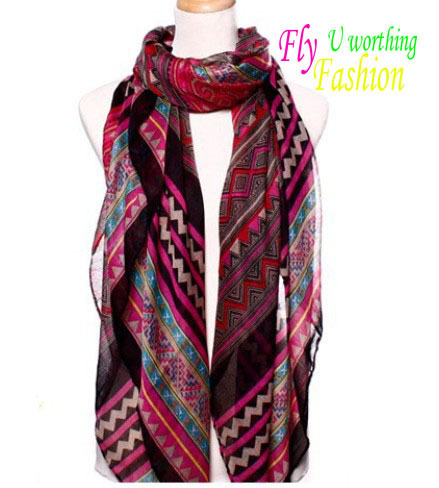 2013 Newest Beach Shawl Beach Sarong Aztec Scarf Fashion Polyester Aztec Tribal Scarf For Women Winter Free Ship 6 colors SP-8