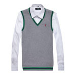 New 2015 Autumn Winter Men sweater vest Fashion Casual Slim Men Classic Solid Color V-neck Sweater Promotion(China (Mainland))
