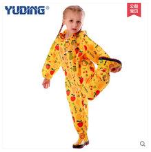 New fashion unisex children waterproof  one piece kids boys girls jumpsuit raincoat hooded free shipping
