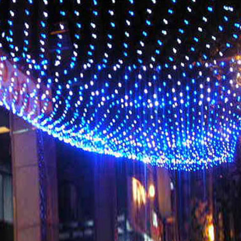 New year 220V Multicolour 96 LEDS 1.5*1.5M LED Net String light party/Christmas Decoration outdoor Holiday Lights Free Shipping(China (Mainland))