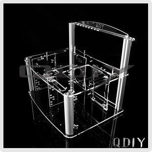 QDIY PC-D003N PMMA Personalized Transparent Acrylic PC Computer Cases Computer Chassis(China (Mainland))