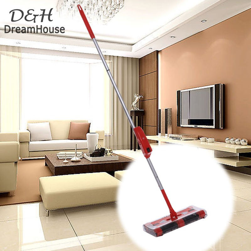 Cordless sweeper Rechargeable battery ROTARY mop rod 360 degree for carpet floor cordless motorised electric vacuum cleaner 58(China (Mainland))