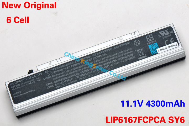 [Special Price] New 6 Cell Laptop Battery Greatwall E530 E300 Founder A530 LIP6167FCPCA SY6 LIP6167FCPC 11.1V 4300mAh