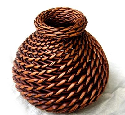34407 100% Manual made Natural Rattan Vase Antique style Straight handmade Rattan Jardiniere Decorative Vase load dry flower(China (Mainland))