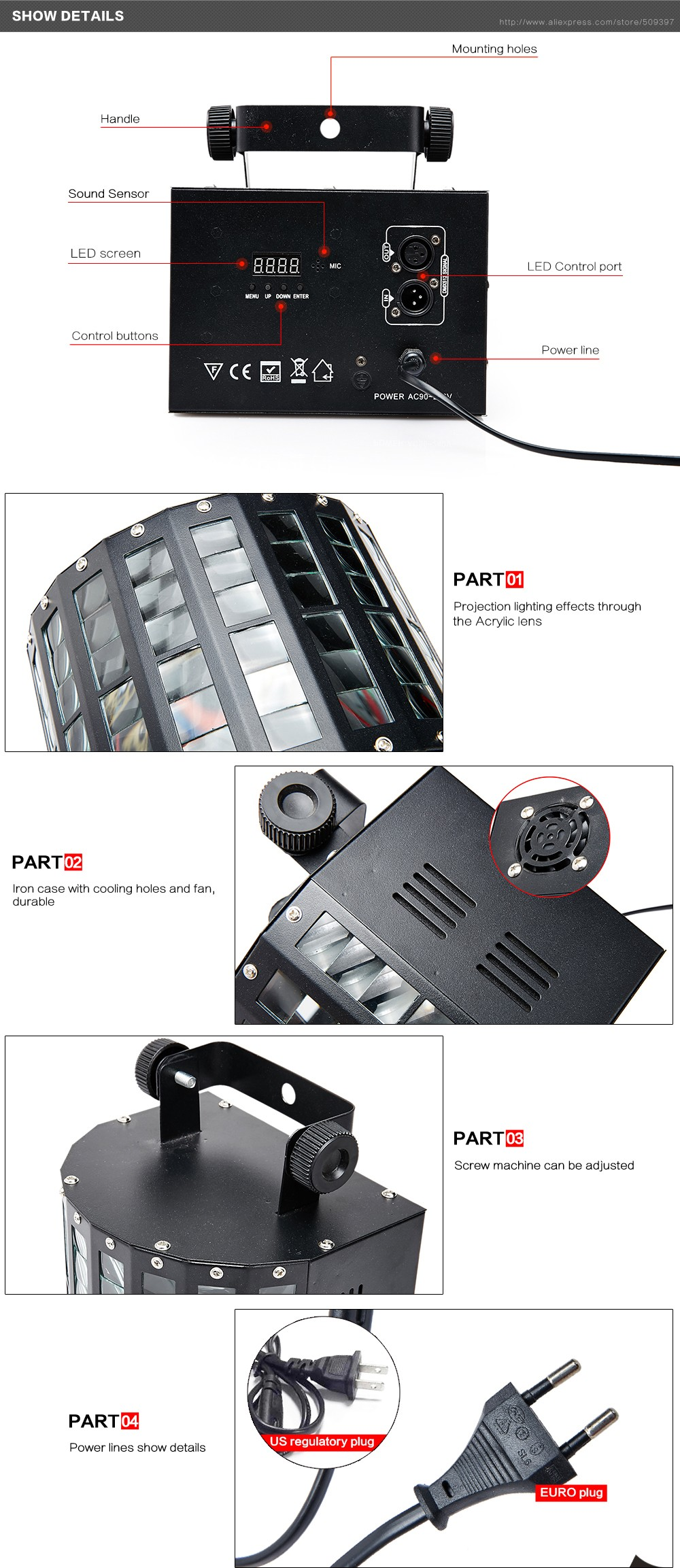 2018 Wholesale Sound Activated Dmx Control Rgbw Led Stage Light For ...