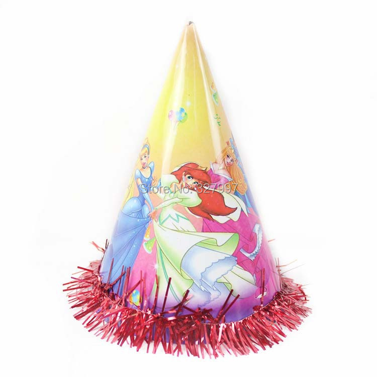 Children Cartoon birthday hats Kids paper cone hat childrens party baby shower decorations novelty favor gift 4 sizes 25pcs(China (Mainland))