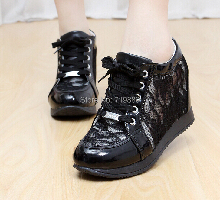 Womens Sport Shoes Fashion Sneakers Heels Inside Ankle Boots Pretty Lace Back Discount Within Higher Sports
