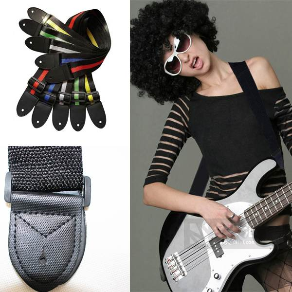 2015 Guitar Part Acoustic Electric Guitar Bass Nylon Adjustable Strap Belt Nailed Uke for New Guitarist Learner Free Shipping(China (Mainland))