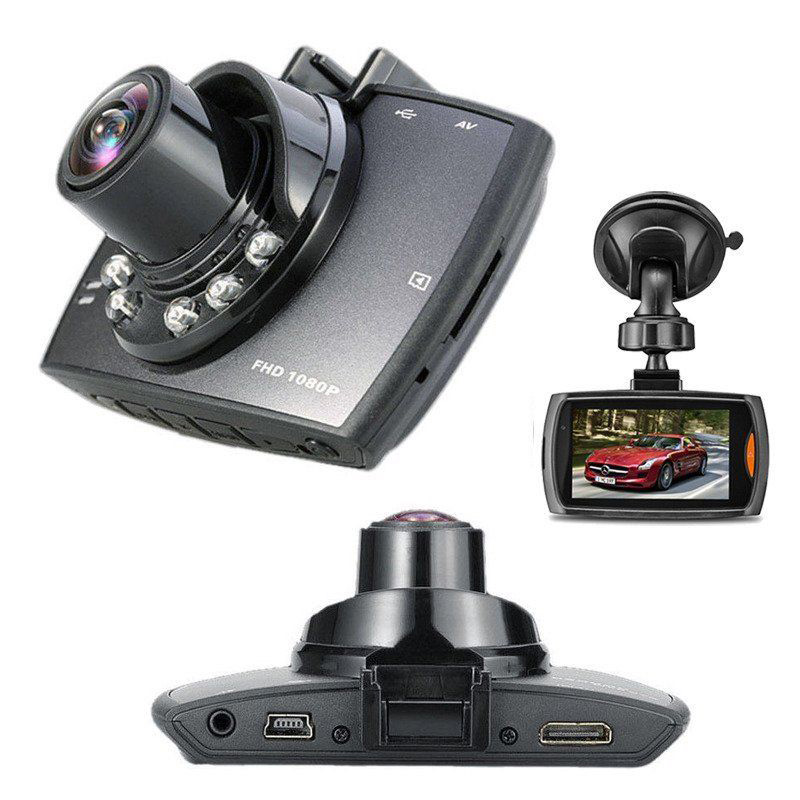 "1920*1080 Car DVR with GPS G-Sensor 2.7"" LCD Cam Video Camcorder Cycle Recording Digital W/8G SD Card Free(China (Mainland))"