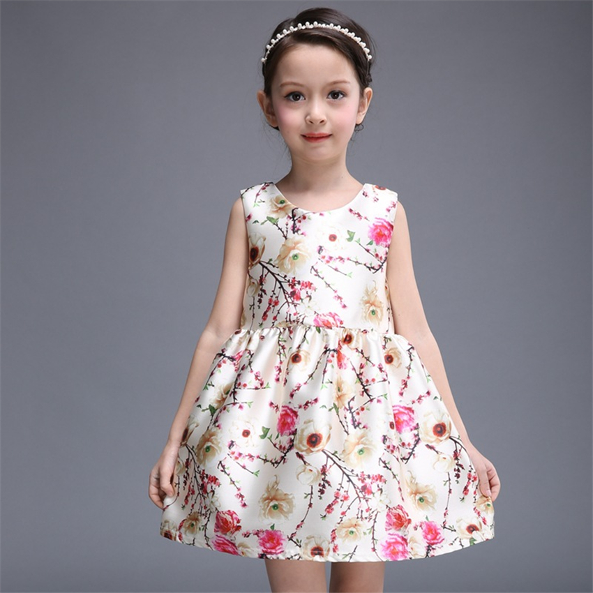 Good Quality 2 -7 Years baby girls party princess Flower Brand Cotton dress summer style casual kids clothes infantis tutu(China (Mainland))