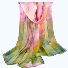 Foulard Women scarf Cachecol Feminino Spring Summer Sunscreen  bandana Georgette silk Scarf Thin Large  Cape Beach Towel scarves(China (Mainland))