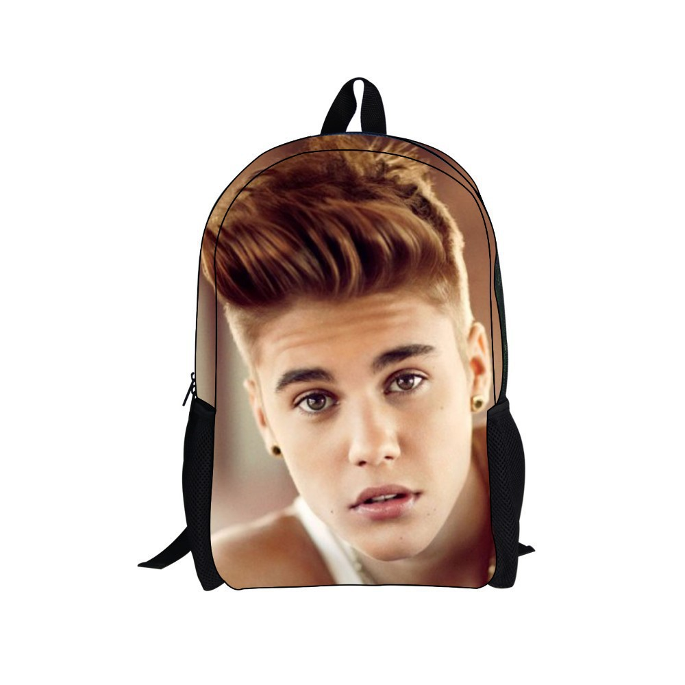 Justin Bieber bag New character Backpack,Men's Backpack,Printing Backpack Schoolbag College School Backpacks boys