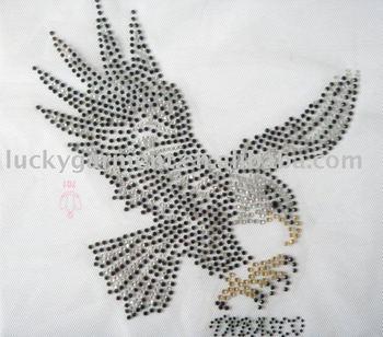 eagle hot fix motif,heat transfer,rhinestone motif