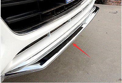 Chrome front bumper Lip cover trim with mustang logo for FORD FUSION 2013 2014 <br><br>Aliexpress