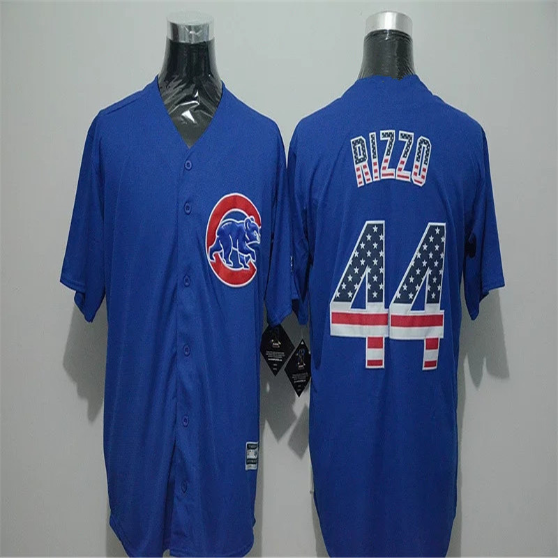 2016 new Men's 44 anthony rizzo Cub throwback Jersey National flag Edition 100% embroidery baseball Jersey(China (Mainland))