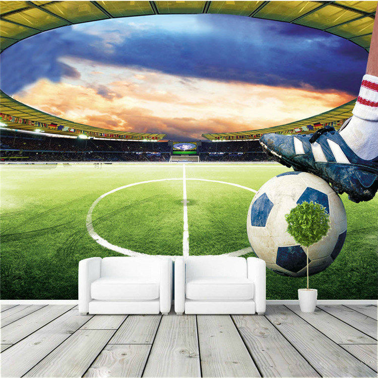 football stadium wall mural customize photo wallpaper 3d football mural wallpaper soccer full wall murals print