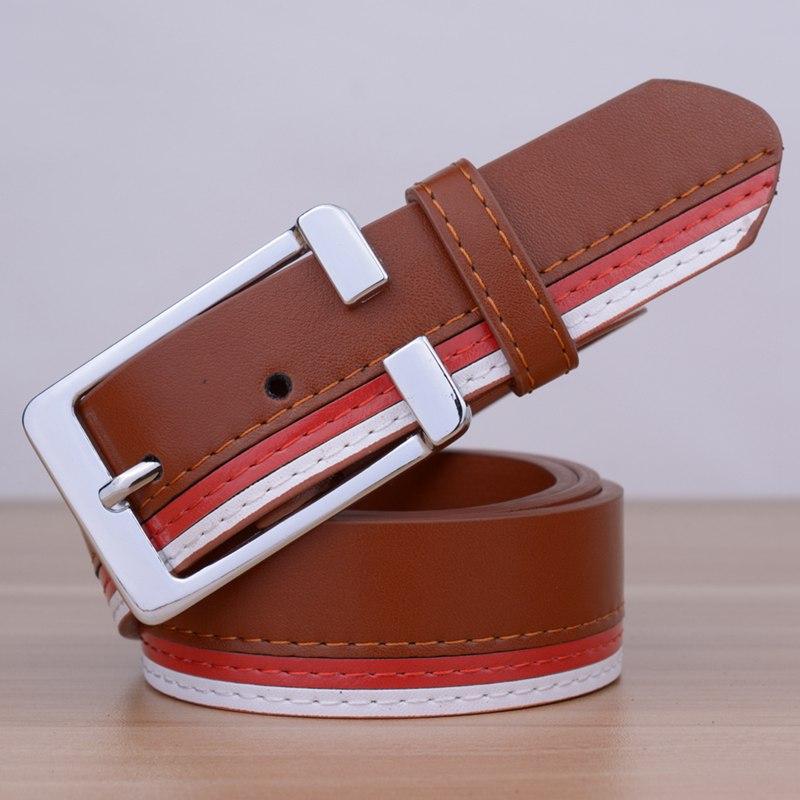 [TG] 2016 New Faux leather Brand Women belt Plate Buckle Lady belt trendy stripes strap cummerbunds Women Belts(China (Mainland))