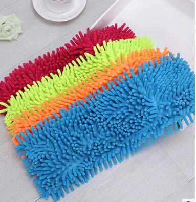 5pcs/lotSuper Absorption And Durable Chenille Mop Head Chenille Drag Replacement Of Cloth(43*18CM)(China (Mainland))