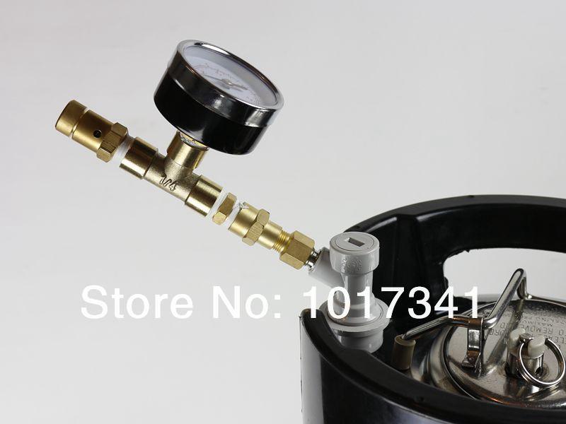 Ball Lock Adjustable Pressure Valve w/Gauge,Kegging equipment(China (Mainland))