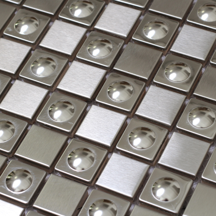 3d square silver color stainless steel metal tiles special