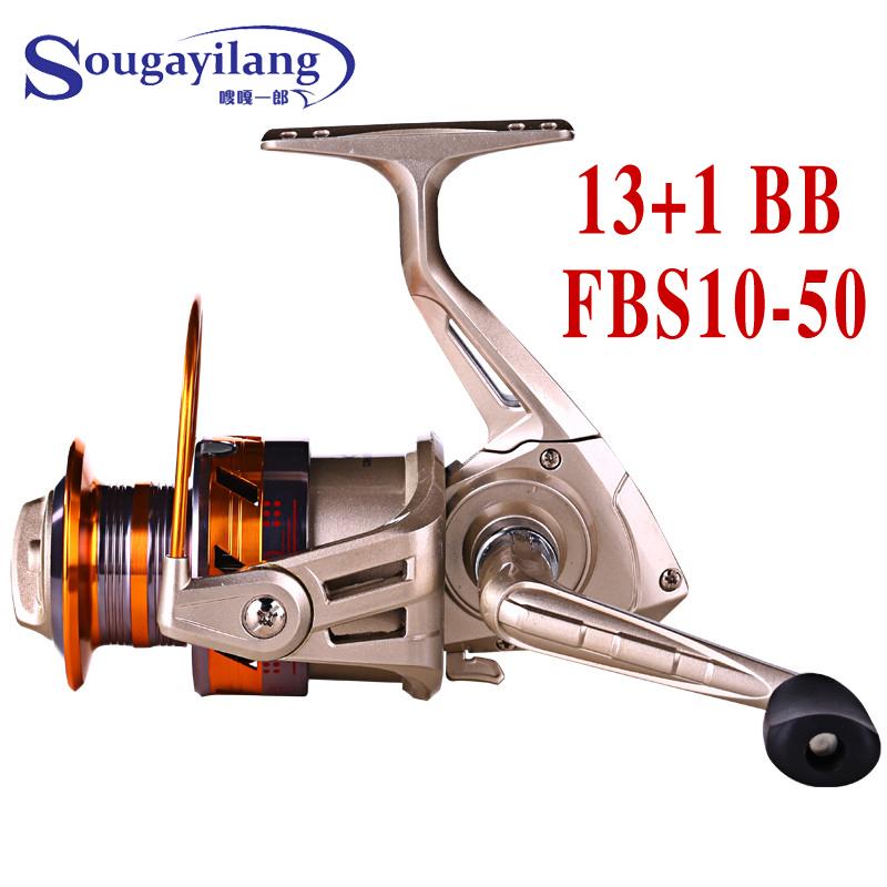 Sougayilang Brand 13+1BB Spinning Fishing Reel 5.2:1 Saltwater Metal Spool Carp Rock Boat Spinning Reel Wheel Fishing Reels(China (Mainland))