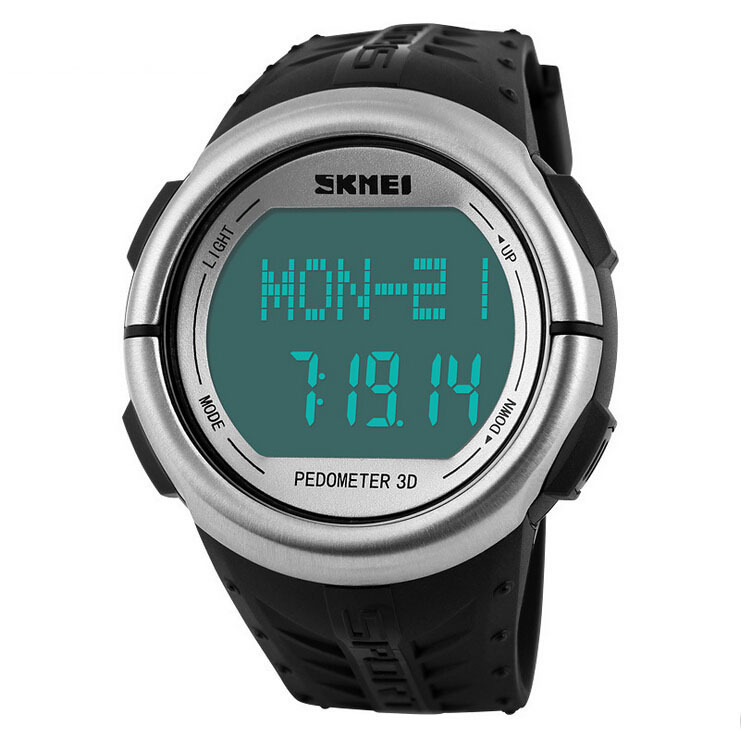 New Pulse Heart Rate Monitor Watch Skmei Brand Led Digital Sport Watch Women Men Pedometer Calories Counter Fitness Wristwatches(China (Mainland))