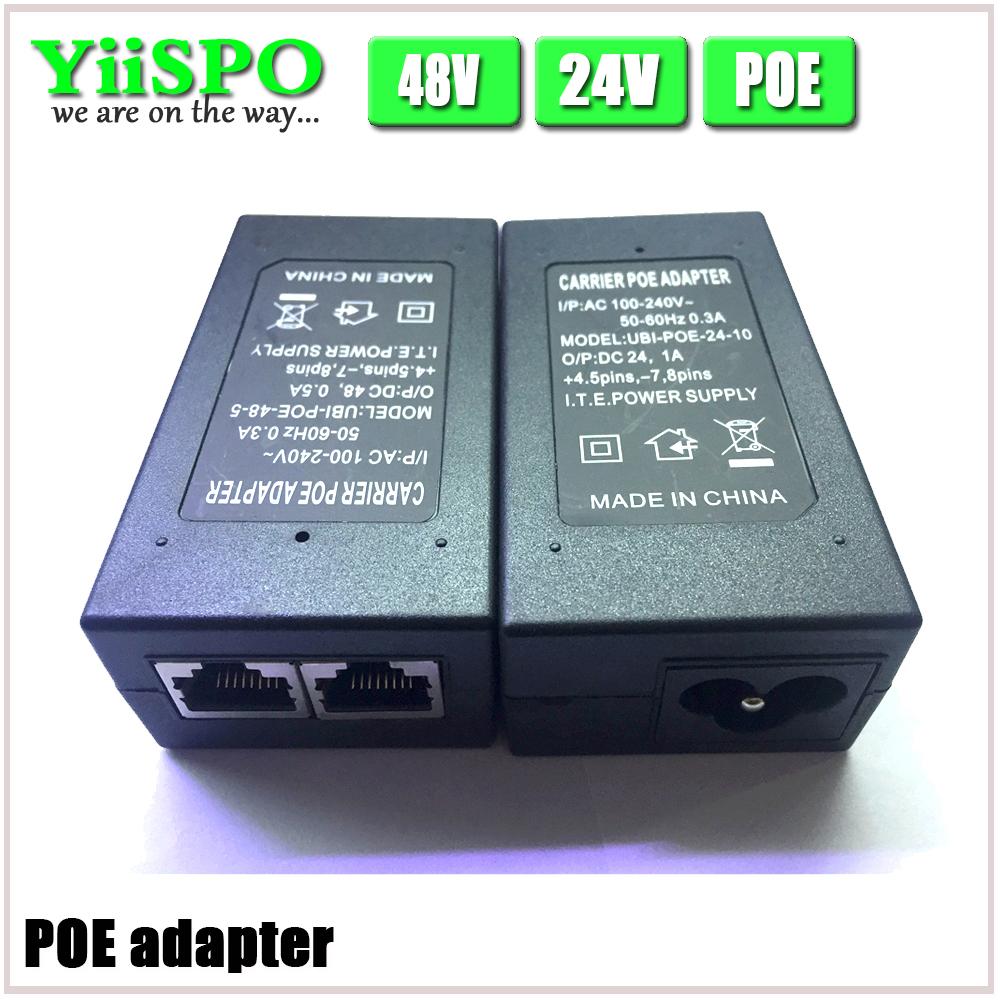 YiiSPO CCTV Security 48V 0.5A 15.4W POE Wall Plug POE Injector Ethernet Adapter IP Camera Phone PoE Power Supply US EU Plug(China (Mainland))