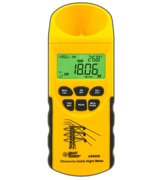 Digital Ultrasonic Cable Height Meter 3 m~23 m Ordinal Measure The Lower 6 Cables Height AR600E Smart Sensor<br>