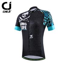 CHEJI 2016 Women Cycling Jersey Short Sleeve Jersey Black Green Bike Bicycle Clothing For Spring Summer Autumn CC1531()