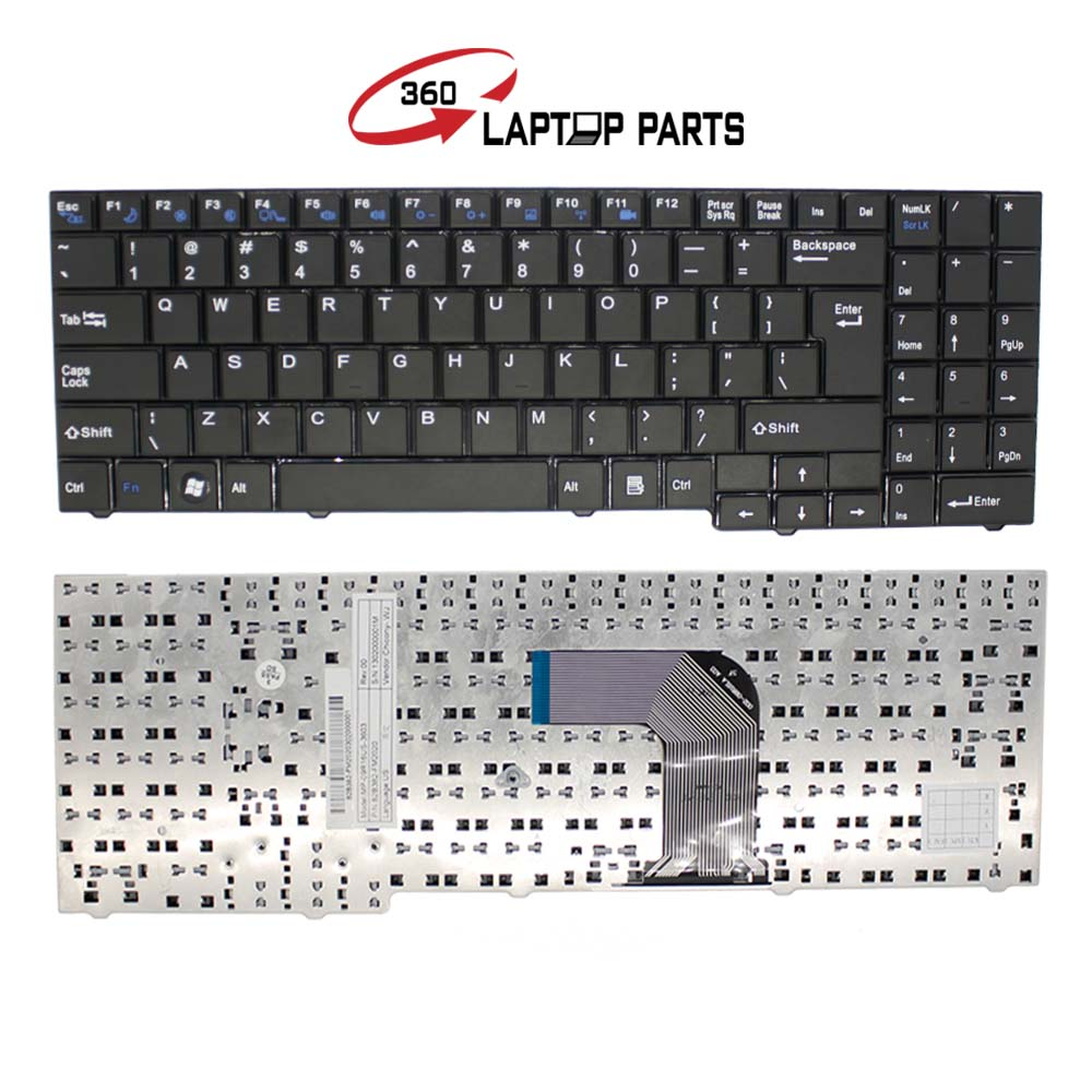 US Layout Black keyboard for Clevo For DNS ECS MB50 MB50II MB50IA MB50IA1 Notebook keyboard MP-09R16US-3603 82B382-FM2020(China (Mainland))