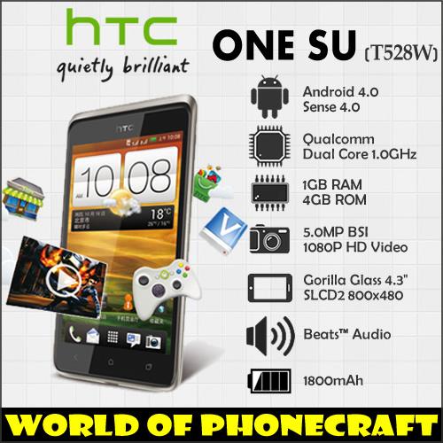 HTC ONE SU T528W Dual SIM Card Supported 1G RAM 4G ROM Storage 2 Core CPU