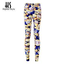 Hipster Drop ship S-4XL 2016 Women Minions Leggings MIlk Leggings Galaxy leggings Plus Size girl Leggings(China (Mainland))