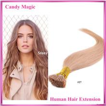 Brazilian Hair 18″-28″ I Tip Hair Extension Straight Hair Keratin Hair Extensions #1b,#2,#4,#6,#27,#613 in Stocks