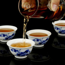 Free Shipping Ceramic Kung Fu Tea Set Blue and White Porcelain Tea Pot Cups Black Tea