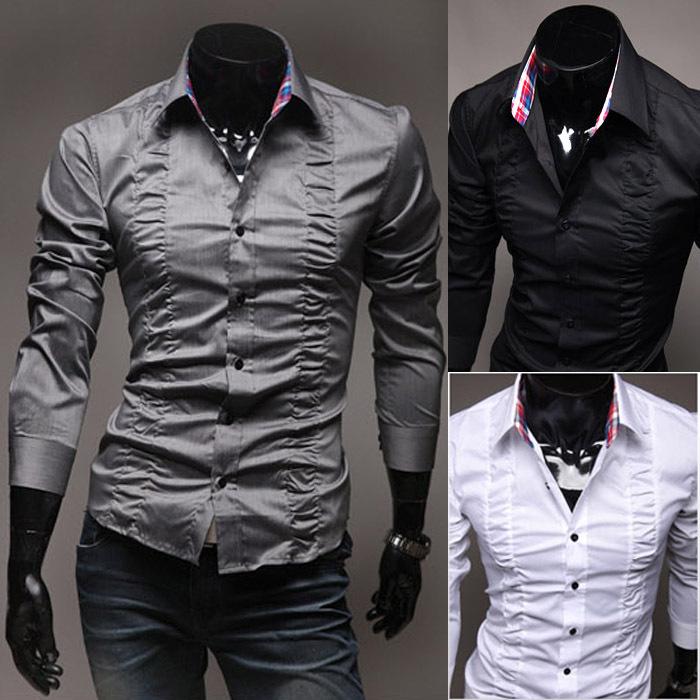 Chemises Pour Hommes Pour Hommes Mince Chemise