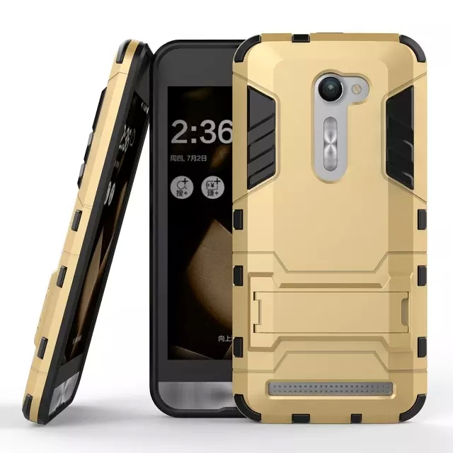 """Cool Hybrid 2 in 1 Case for Asus Zenfone 2 ZE500CL 5.0"""" Luxury Hard PC +TPU Back Cover for Zenfone 2E With Stand Flexible Armor(China (Mainland))"""