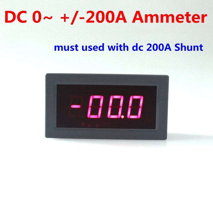 High precision LED display DC digital amp panel meter DC 0~ +/-200A amp meter ammeter panel Free shipping<br><br>Aliexpress