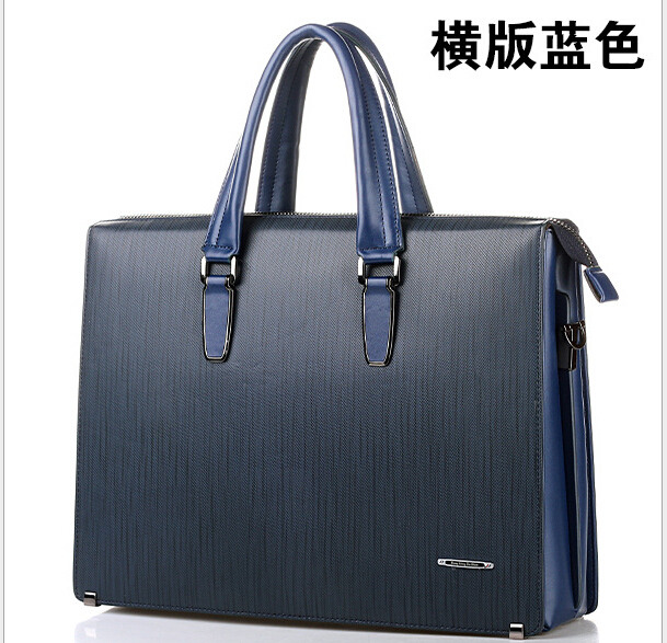men s genuine leather briefcases 2016famous brand fashion quality black business dress real leather handbags casual