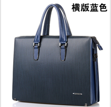 men's genuine leather briefcases 2016famous brand fashion quality black business dress real leather handbags casual briefcases