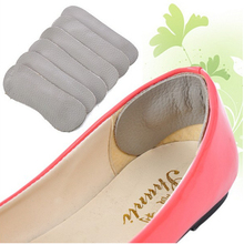 6 Pairs/lot Women Cowhide Leather Rearfoot Stickers insole High Heel Cushion Pad Protector Liner Anti-foaming foot wear(China (Mainland))
