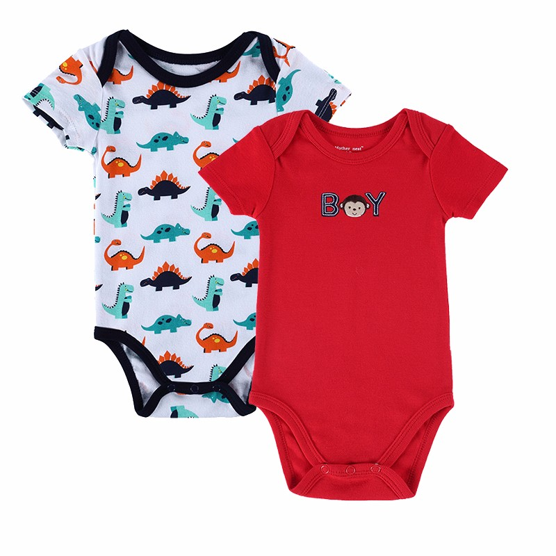 2 PCSLOT 2016 Fashion High Quality Baby Romper Boy & Girl Cartoon Animal 0-12M Jumpsuit Ropa Bebe Body Suit Baby Clothes Romper (4)