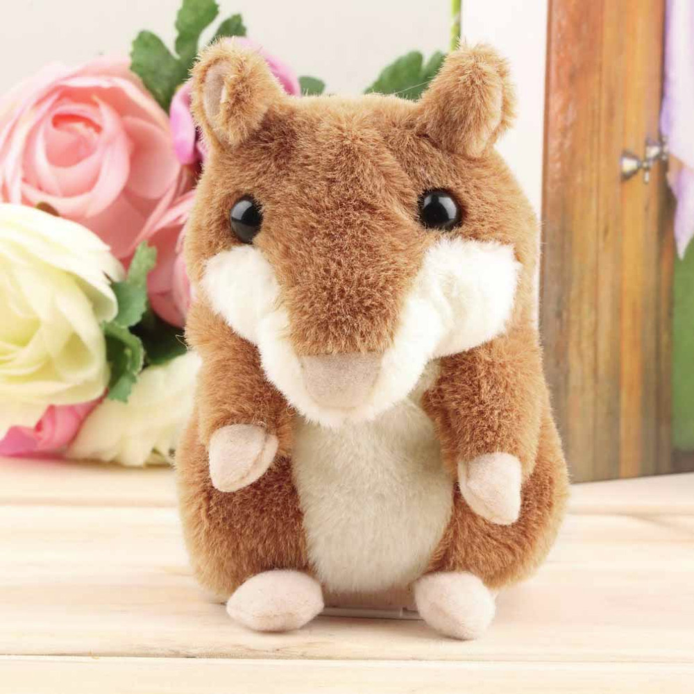 Lovely Free Shipping Talking Hamster Plush Toy Hot Cute Speak Talking Sound Record Hamster Talking Toys for Children Fashion<br><br>Aliexpress