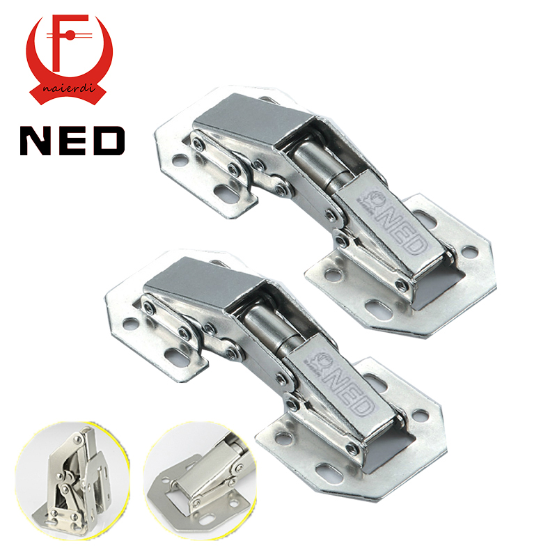 10PCS NED-A99 90 Degree 3 Inch No-Drilling Hole Cabinet Hinge Bridge Shaped Spring Frog Hinge Full Overlay Cupboard Door Hinges(China (Mainland))