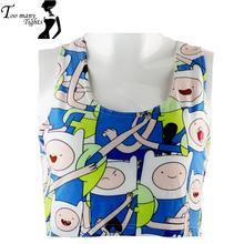 X-358 Adventure Time Women crop tops Fashion tank tops punk camisole Tee shirt cap vest(China (Mainland))
