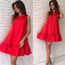 Buy 2017 Women's Vestidos Sexy Ruffles Dress Summer Sleeveless Casual Line Bodycon Dress Women Party Plus Size Short Mini Dresses for $6.24 in AliExpress store