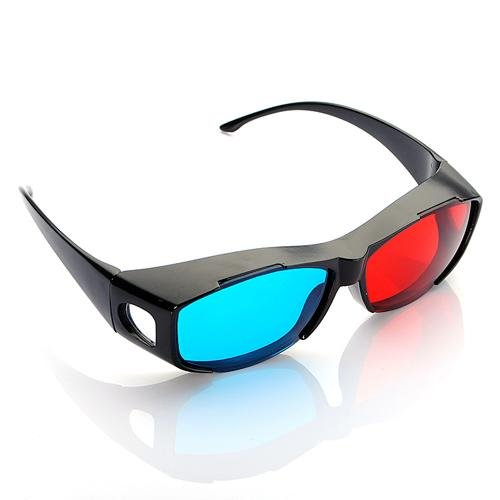 2pcs 3D Red Blue Red-blue glasses Cyan Myopia General VISION Dimensional Anaglyph Eyewear Glass for Plasma TV Game Stereo Movie(China (Mainland))