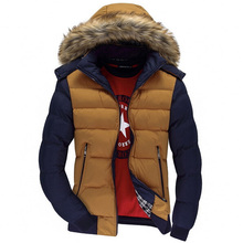Hooded Design Men Parka Size M 3XL Casual Fit Men s Winter Coat Stand Collar Thick