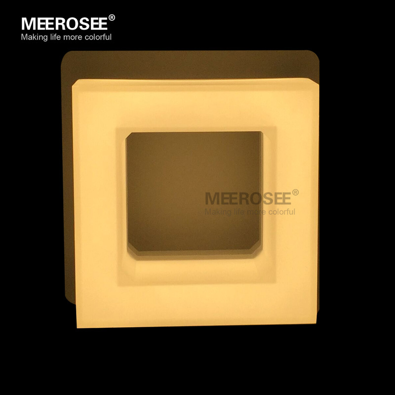 Free Shipping White Acrylic LED Wall Light Fixture Simple Square LED Wall Bracket Balcony Bed Side Wall Lamp MD81269(China (Mainland))
