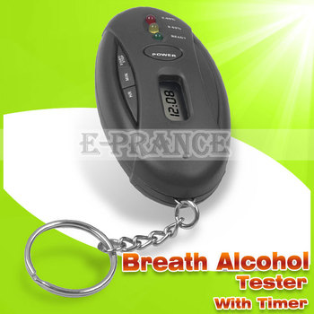 New Portable Digital Breath Alcohol Tester With Timer Torch Function LED display alcohol level Free Shipping