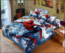 Great 100% Cotton 3D Bedclothes 4PCS Bedding Sets King/Queen 1PC Comforter Cover/1 PC Bed sheet//2 PCS Pillow Covers Cool Spider(China (Mainland))